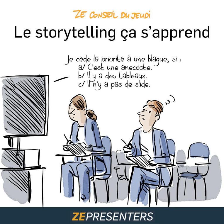 Le storytelling ça s'apprend