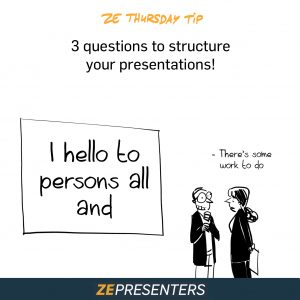 3 questions to structure your presentations!