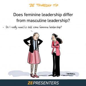 Does feminine leadership differ from masculine leadership?